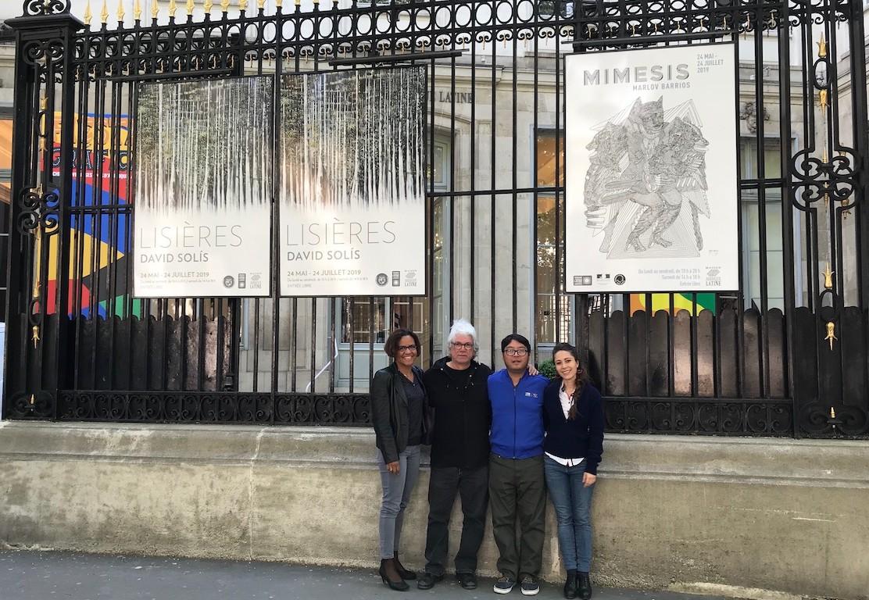 Inauguración de la exposición del pintor panameño David Solis, el 23 de mayo de 2019, en la Casa de América Latina de Paris.