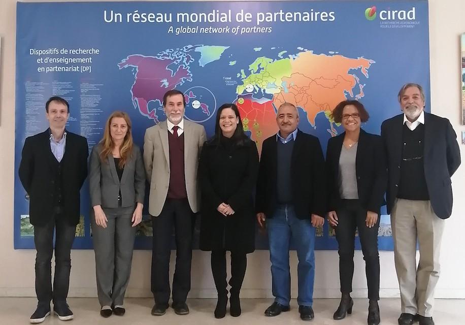 Acompañando a la delegación de Fontagro en el Centro de Investigación Agronómica para el Desarrollo en Montpellier , Francia