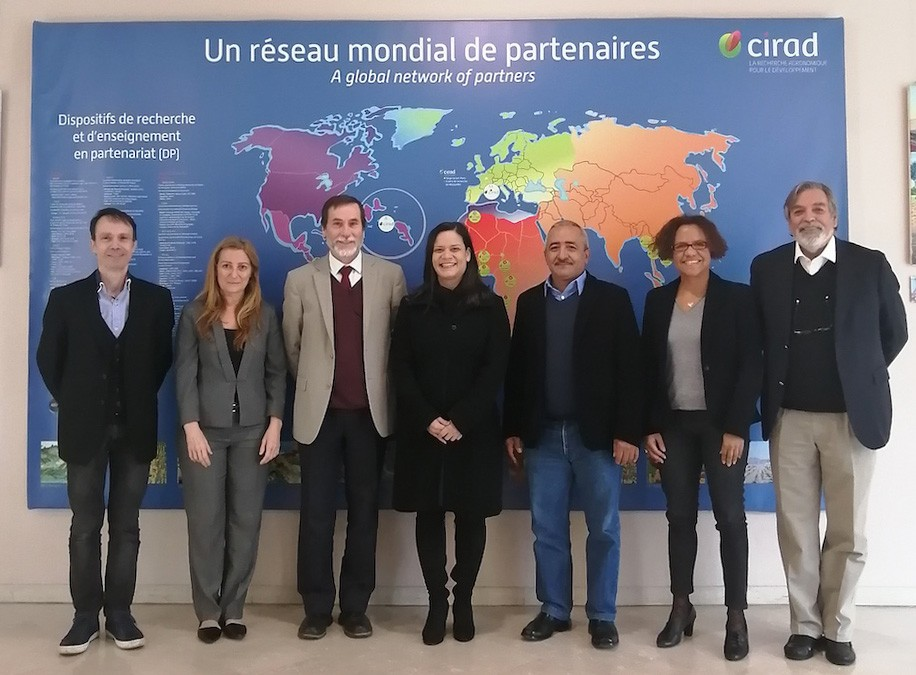 Acompañando a la delegación de Fontagro en el Centro de Investigación Agronómica para el Desarrollo en Montpellier, Francia