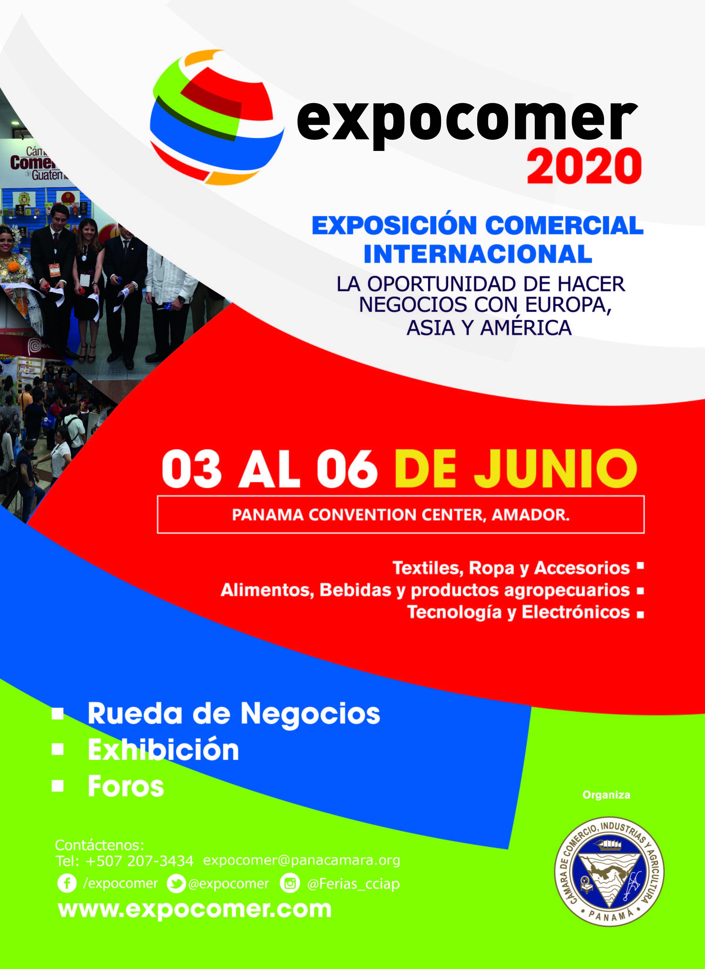 EXPOCOMER 2020 la oportunidad de hacer negocios con europa, asia y américa