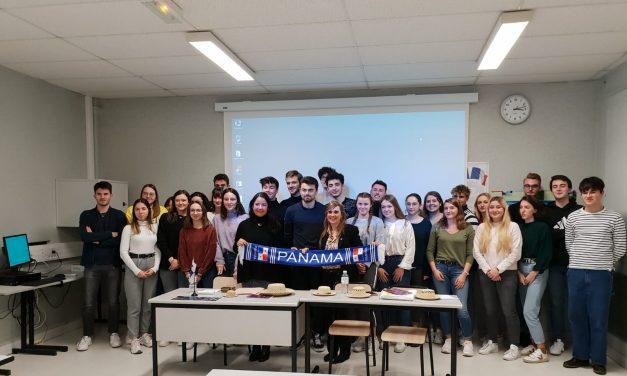 """Dayra Carrizo a participé au Forum: """"Panama – culture, tourisme, commerce et investissement"""", destiné aux étudiants français de Limoges"""