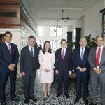 Délégation des entrepreneurs français MEDEF lors de sa visite au Panama pour connaître les avantages en termes de transparence, institutionnalité, commerce et investissements.