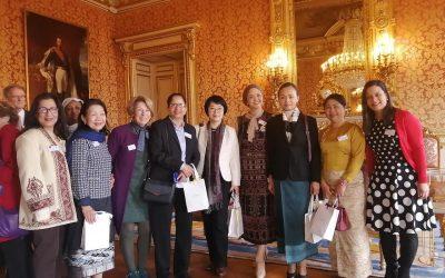 Nous étions présents au bureau d'accueil en France