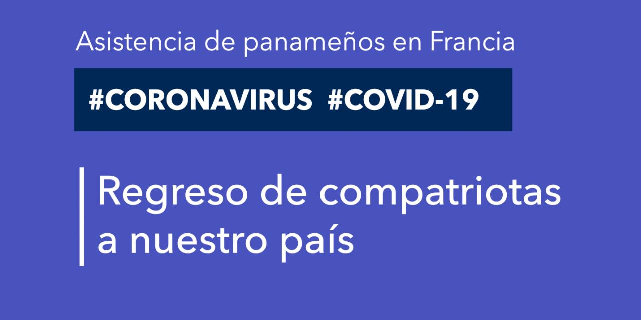 Assistance des Panaméens en France. 14 compatriotes ont pu rentrer dans notre pays.