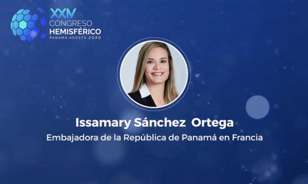 S.E. Madame Issamary Sánchez, a été invitée comme conférencière au XXIV Congrès hémisphérique du Panama