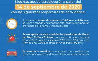 Mesures pour la réouverture des activités au Panama
