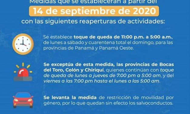 Medidas en Panamá, reaperturas de actividades!