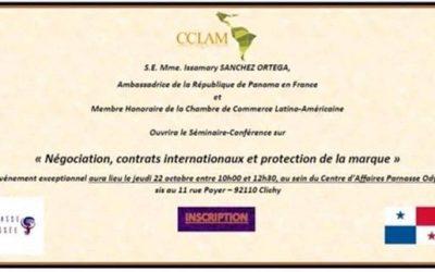 """SE Issamary Sánchez ha sido invitada para la apertura del Seminario sobre """"Negociación, Contratos Internacionales y Protección de la marca"""""""