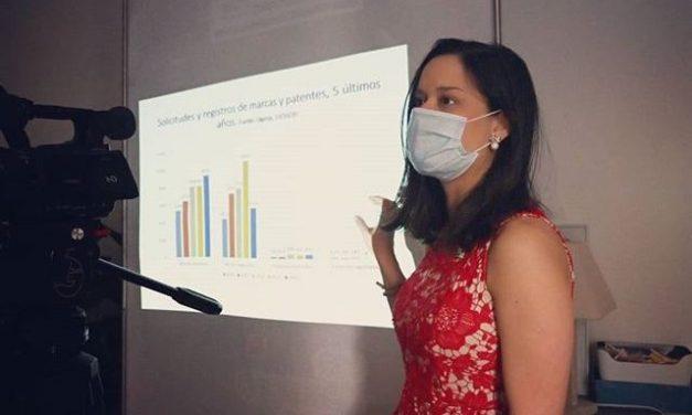 S.E. Issamary Sánchez exponiendo sobre el Comercio, la Propiedad Industrial e Intelectual en Panamá, invitación de la Cámara de Comercio de Francia