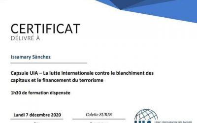 Participation de SE Issamary Sánchez à un événement sur la lutte internationale contre le blanchiment des capitaux et ft.