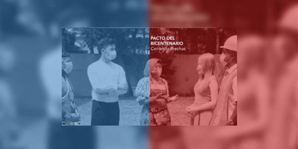 """Forma parte del Pacto del Bicentenario """"Cerrando Brechas"""" un diálogo sincero."""