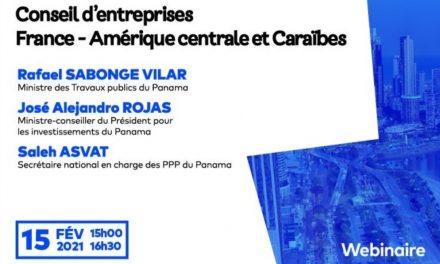 Promoviendo las inversiones francesas en Panamá. Seminario virtual de autoridades panameñas y empresarios del MEDEF.