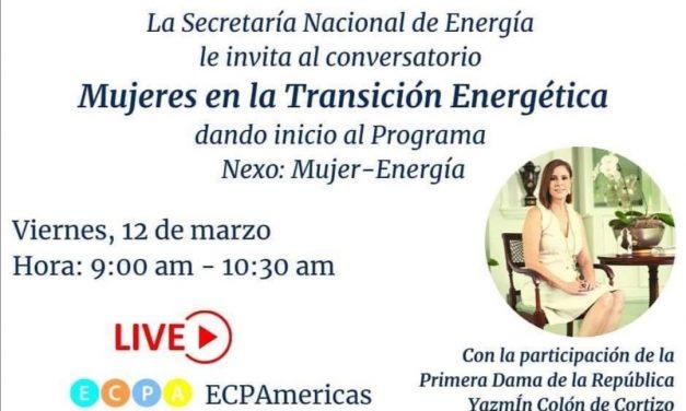 """SE Issamary Sánchez participó del evento virtual """"Mujeres en la transición energética"""", con la Primera Dama de Panamá, Yazmín Colón de Cortizo."""