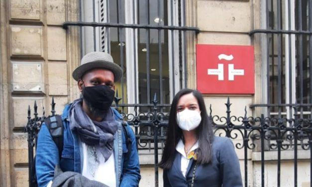 """Presentación de la película """"Panama Al Brown"""" en el Instituto Cervantes de París."""