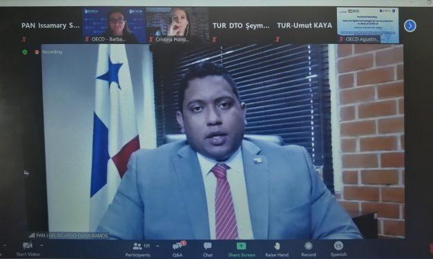 Participación en Foro de la OCDE del Ingeniero Luis Oliva, Administrador de la AIG, sobre el uso de la data y tecnología digital en tiempos de Covid-19 en Panamá.