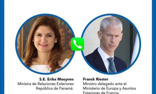 Entrevista de los Ministros de Relaciones Exteriores de Panamá y Francia (por videoconferencia, 7 de mayo de 2021).