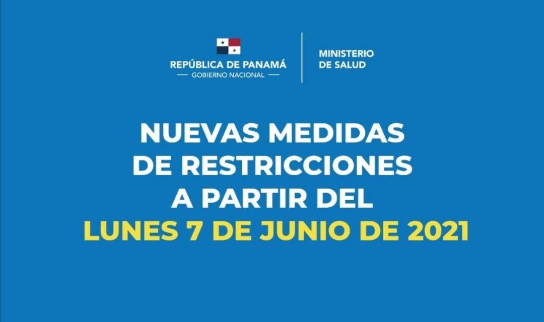 Nuevas medidas de restricciones a partir de 7 de junio de 2021.