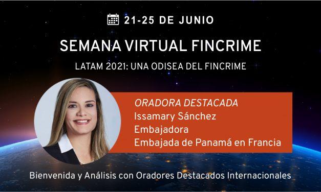 Inauguración de la Semana FinCrime, SE Issamary Sánchez y María Holguín, Directora de la UAF de RD.