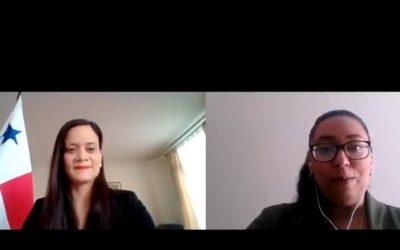 Entrevista a SE Issamary Sánchez por parte del Instituto Internacional Anti lavado de dinero sobre Panamá y su estrategia para salir de las listas grises.