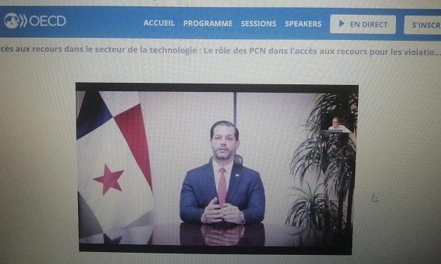 """El Ministro de Comercio e Industrias, Ramón Martínez, participó como expositor del """"OECD Global Forum on Responsible Business Conduct""""."""