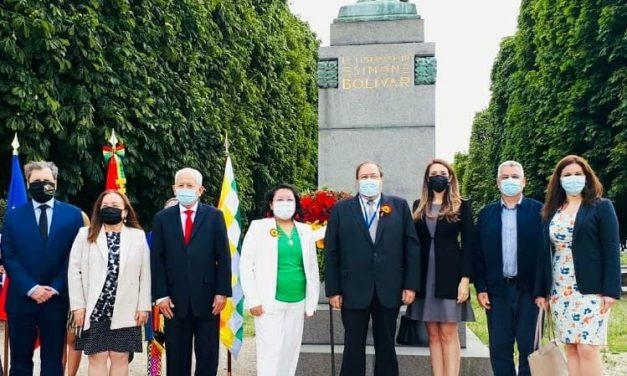 Participación de nuestra Embajada en el aniversario de la Independencia de Bolivia.