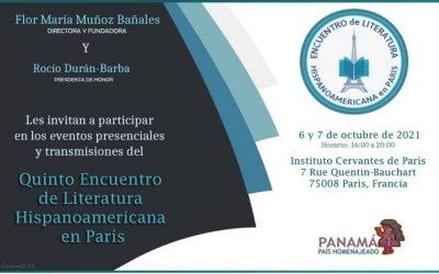 Panamá será el país homenajeado en el Quinto Encuentro de Literatura Hispanoamericana en París.