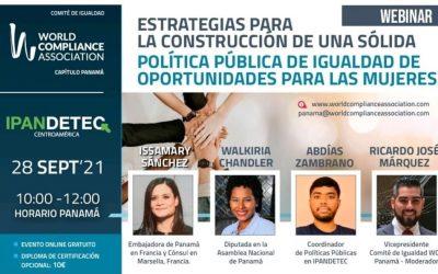 SE Issamary Sánchez ha sido invitada como conferencista al evento de Wordcompliance sobre políticas públicas de igualdad de oportunidades para las mujeres.