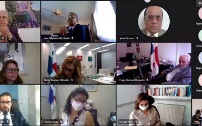 Reunión de la VM Carrizo con cuerpo diplomático de Panamá sobre los flujos migratorios irregulares.