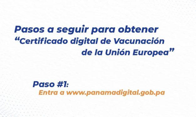La Unión Europea ha reconocido el Certificado Covid de Panamá para viajar, siendo el primer país de la región en contar con certificado digital Covid-19 homologado por la UE.